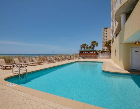 Pool at Ocean Ritz overlooking the Gulf